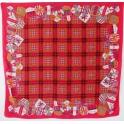 Foulard carré en soie 118cm